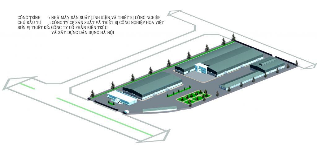 Khu công nghiệp Nhà máy Nhà điều hành thiết kế theo xem phong thủy- ảnh1