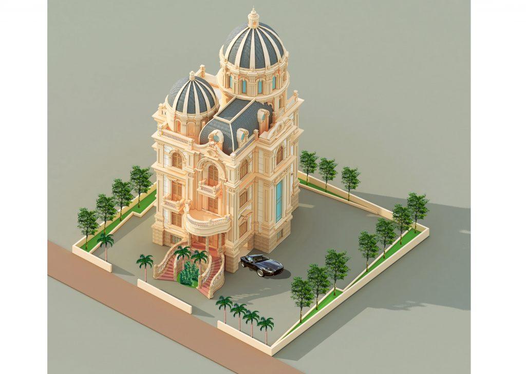 Thiết kế Biệt thự lâu đài pháp tân cổ điển đẹp Nhà ở hiện đại theo xem phong thủy
