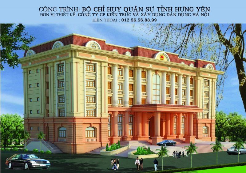 Trụ sở làm việc Kiến trúc pháp cổ - Văn phòng Cơ Quan - Nhà cao tầng đẹp - Nhà làm việc-Ảnh1