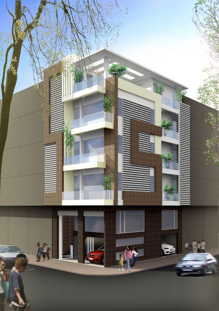 Biệt Thự song lập hiện đại 5 tầng ảnh thiết kế nhà ở đẹp