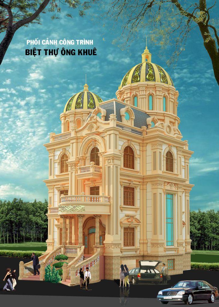 Biệt thự Lâu đài pháp cổ 4 tầng thiết kế nhà ở đẹp-Ảnh2
