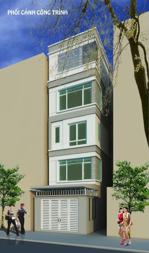 Nhà ở mặt phố thiết kế đẹp hiện đại chia phân lô ảnh 5 tầng