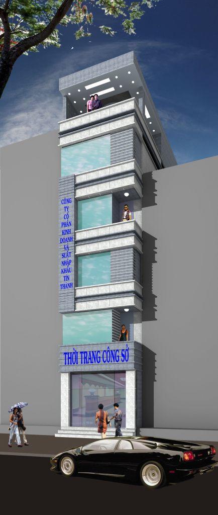 Nhà ở mặt phố thiết kế đẹp hiện đại chia phân lô ảnh 6 tầng